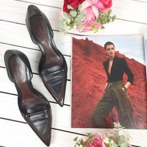 Cole Haan Black Leather D'orsay Kitten Heel 8